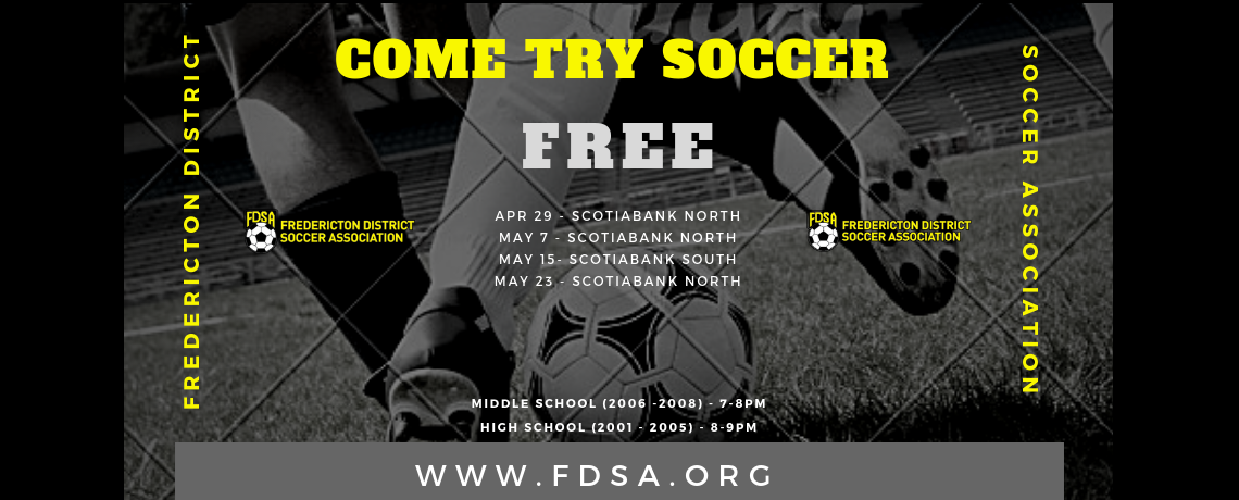 FDSA to host 4 FREE 'Come Try Soccer' Sessions