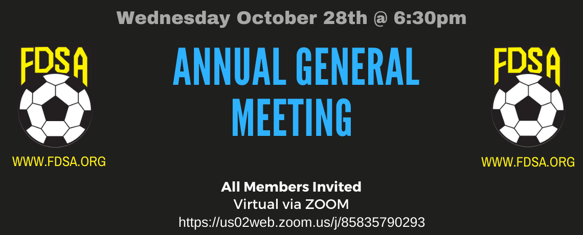 FDSA's Annual General Meeting going Virtual, Scheduled for October 28th!