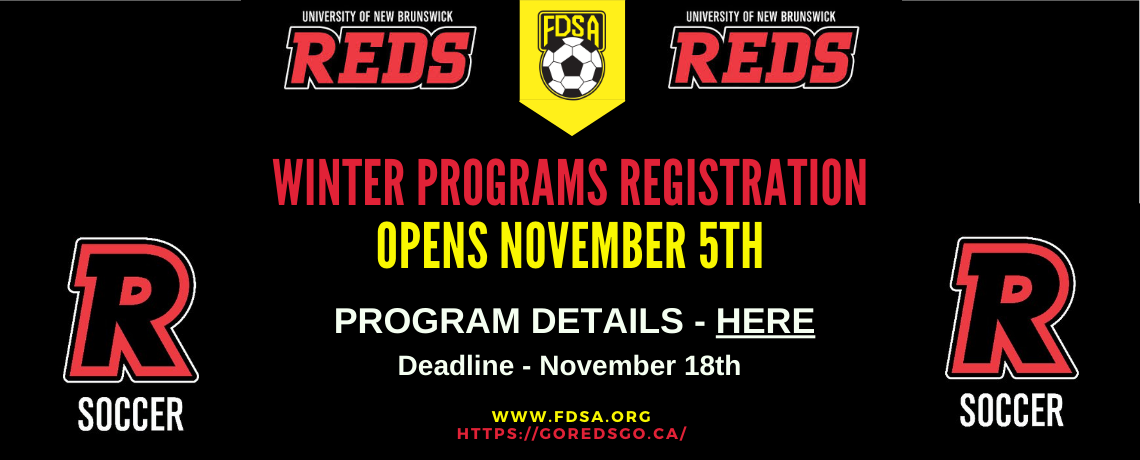 Winter Soccer Program Info – Registration Opens Nov 5th
