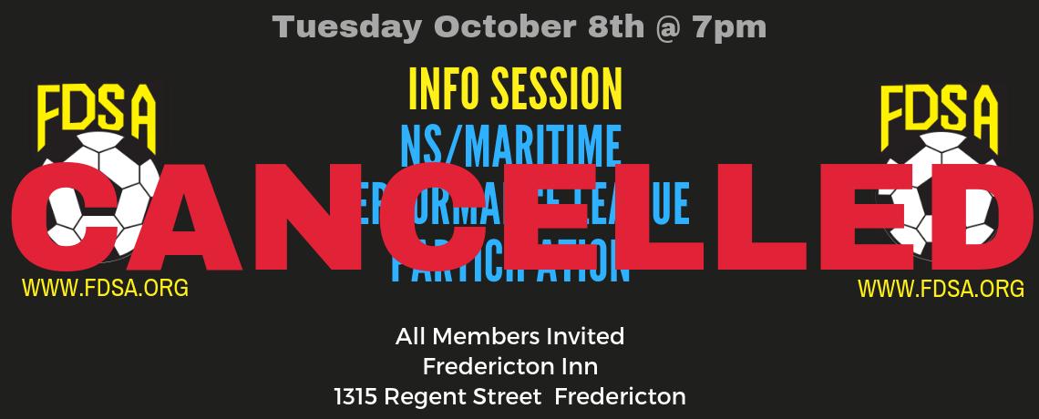 Info Session Regarding NS/Maritime League – CANCELLED