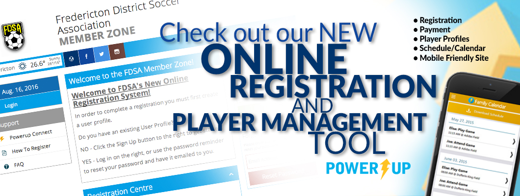 FDSA 'Power's Up' For Registration and Player Management